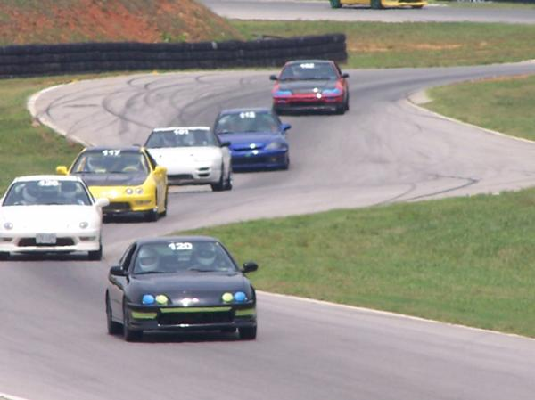 2001 Acura ITR racing with friends