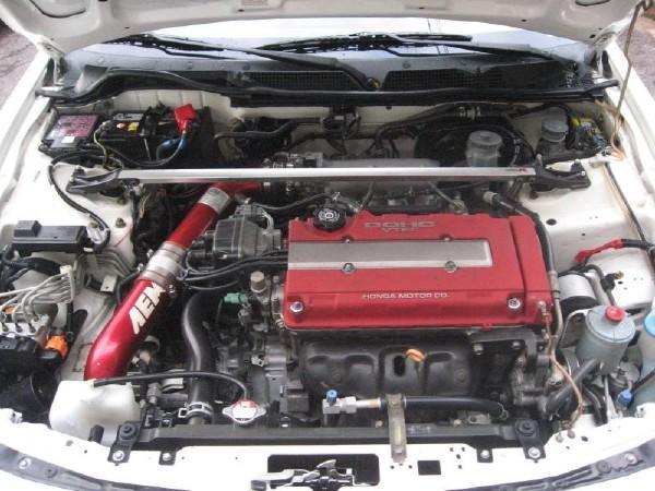 2001 Championship White Integra Type-R engine bay