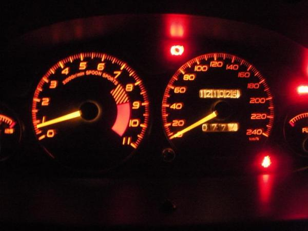 ITR DC2 Spoon Sports gauge cluster