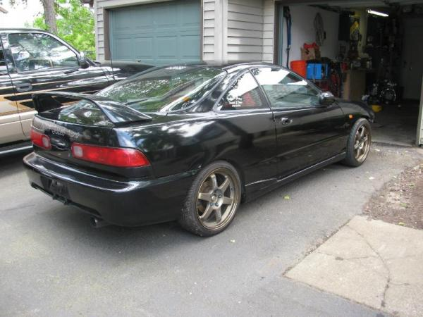 Integra Type-R with bronze aftermarket wheels