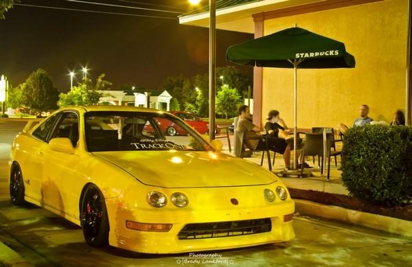 2001 Phoenix yellow ITR low on black wheels
