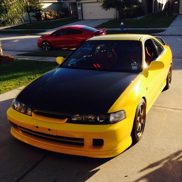 2001 Phoenix yellow ITR JDM Front