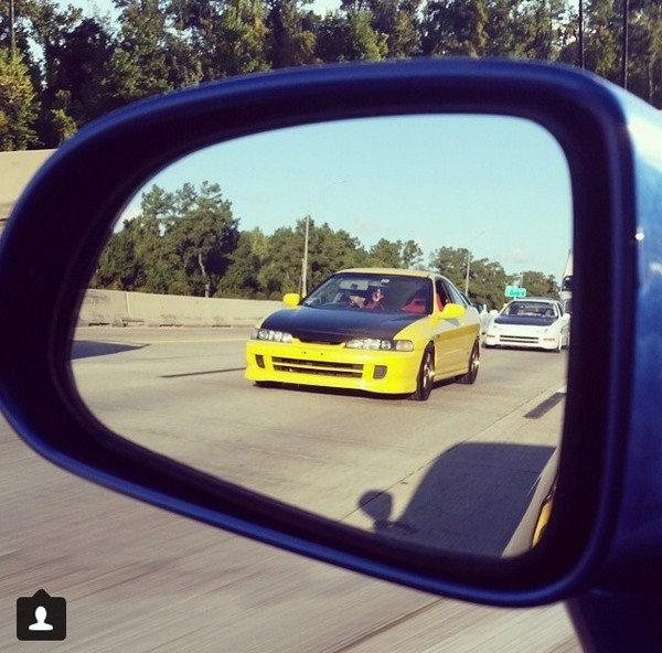 2001 Phoenix yellow ITR in mirror