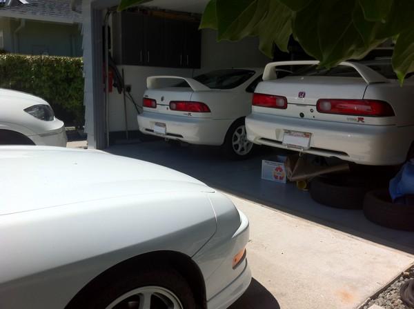 3 1998 championship white Acura Integra Type-R's