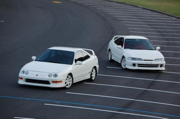 JDM and USDM Championship White Integra Type-R's