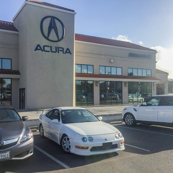 1998 Championship White Integra Type R at Acura dealership