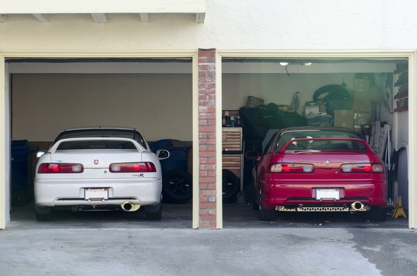 1998 Championship White Integra Type R with GSR in garage