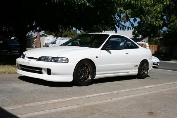 championship white Acura Integra type-R with JDM front end