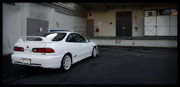 championship white 98 Integra type-r with optional rear lips