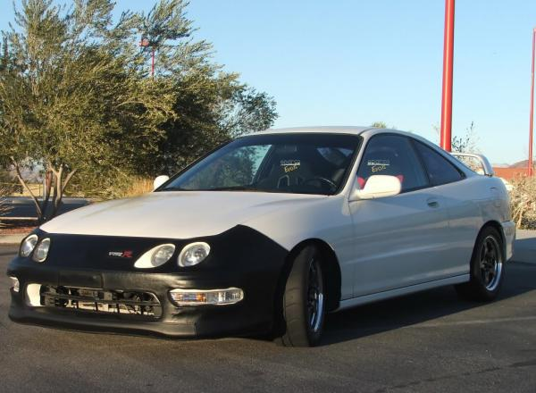 1998 Championship White Integra Type R with OEM bra