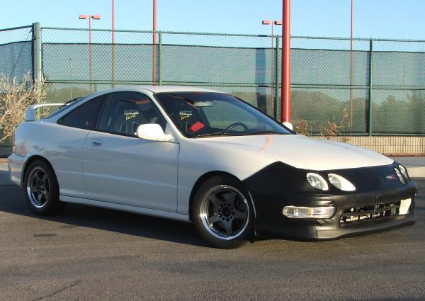 1998 Championship White Integra Type-R aftermarket wheels