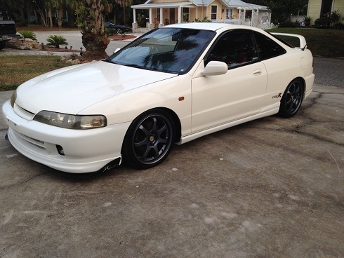 1998 Championship White Acura ITR JDM front end