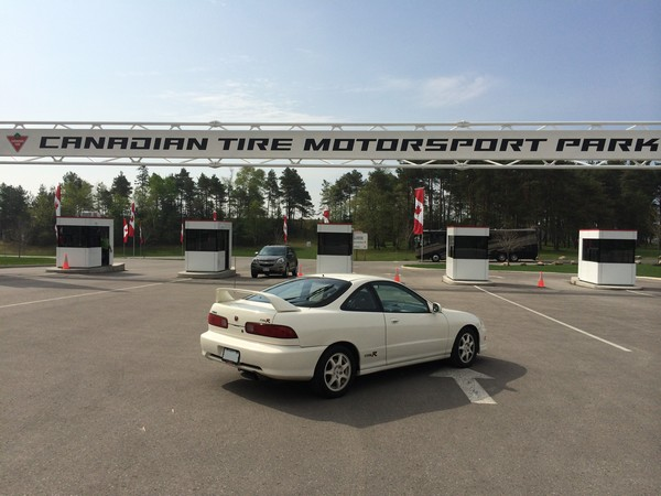Stock 1998 Championship White USDM Acura Integra Type-R at Canadian Tire Motorsport Park