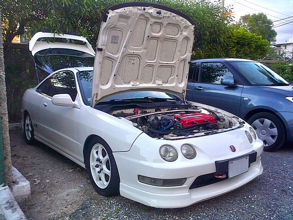1998 Acura Integra Type-R with hood popped open