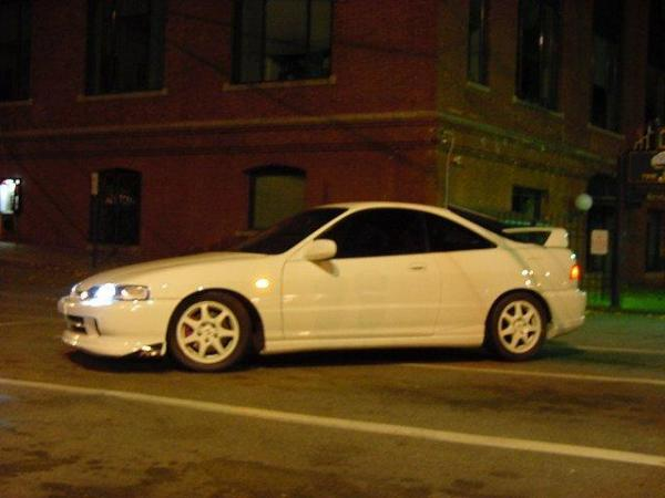 1998 championship white Acura Integra Type R with JDM front end