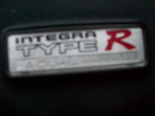 Acura ITR interior badge(blurry)