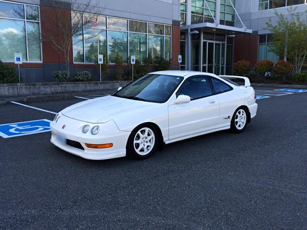bone stock 1998 Championship White Acura Integra Type-r